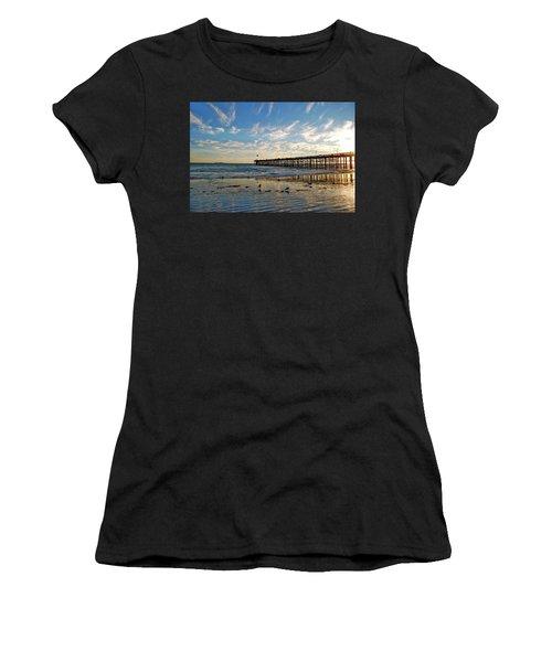 Ventura Pier At Sunset Women's T-Shirt (Athletic Fit)