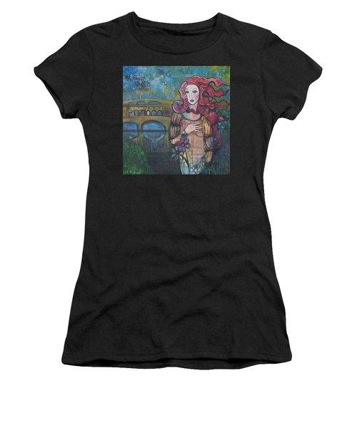 Venus And The Ponte Vecchio  Women's T-Shirt