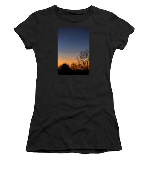Venus, Mercury And The Moon Women's T-Shirt (Athletic Fit)