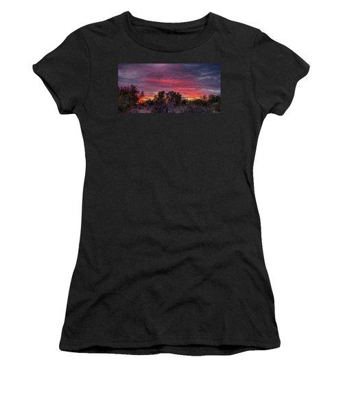 Verigated Sky Women's T-Shirt (Athletic Fit)