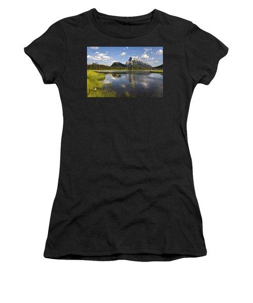 Vermillion Lake And Sulpher Mountain Women's T-Shirt