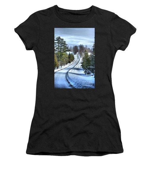 Vermont Country Landscape Women's T-Shirt (Athletic Fit)