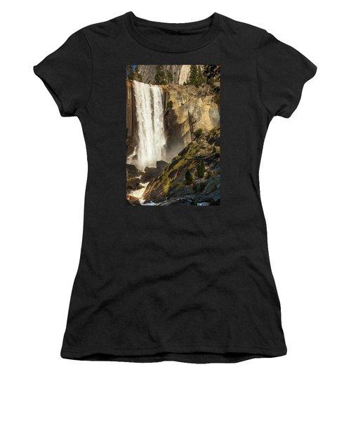 Vernal Falls And Hiker - Yosemite Women's T-Shirt