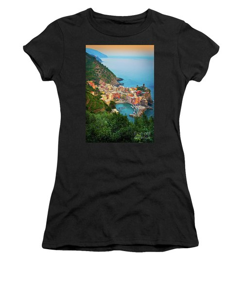 Vernazza From Above Women's T-Shirt (Athletic Fit)