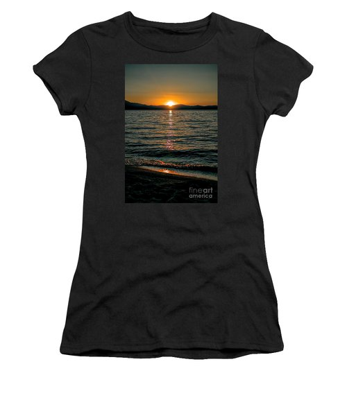 Vertical Sunset Lake Women's T-Shirt