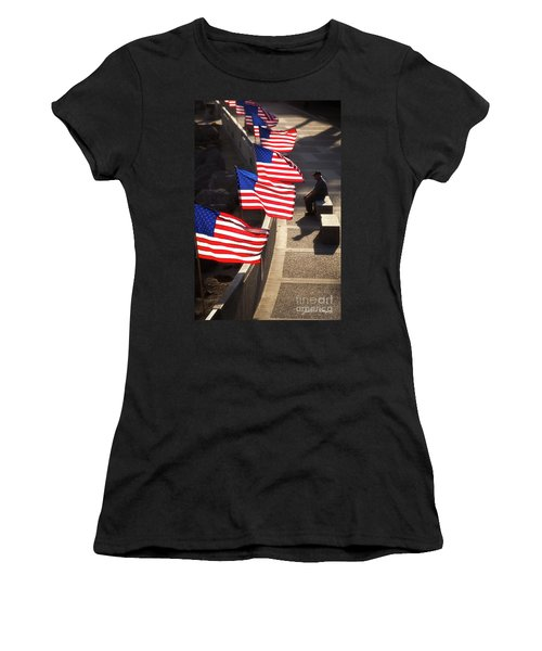 Veteran With Our Nations Flags Women's T-Shirt