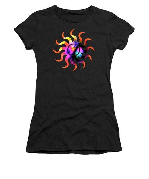Vibrant Circle On Orange Women's T-Shirt