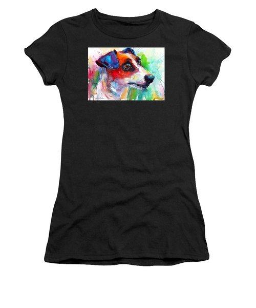 Vibrant Jack Russell Terrier Dog Women's T-Shirt