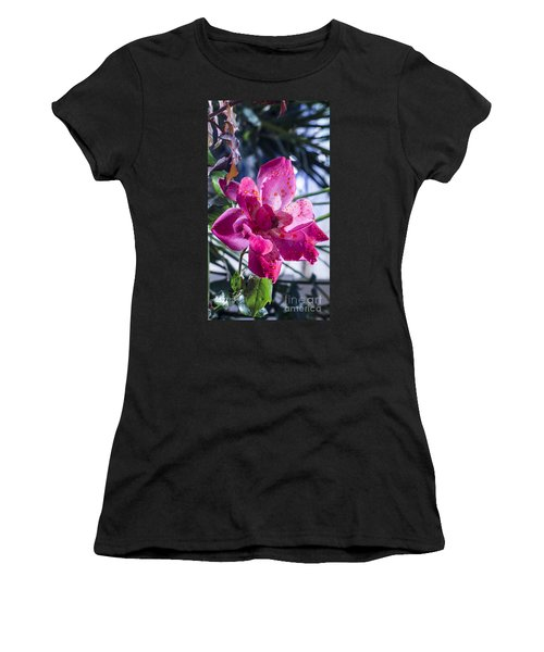 Vibrant Pink Rose Women's T-Shirt