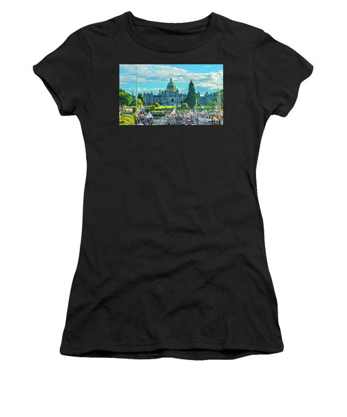 Victoria Bc Parliament Harbor Women's T-Shirt