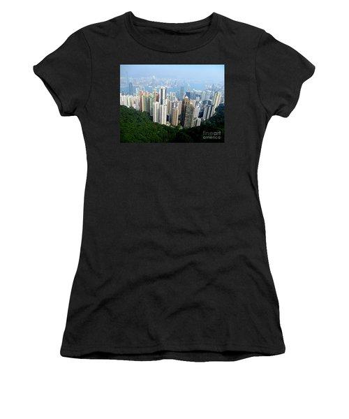 Women's T-Shirt (Junior Cut) featuring the photograph Victoria Peak 1 by Randall Weidner