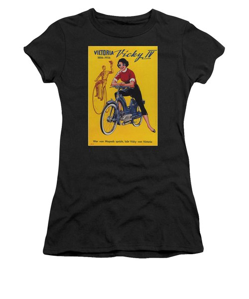 Victoria Vicky Iv - Motorcycle - Vintage Advertising Poster Women's T-Shirt
