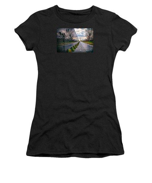 Vietnam War Memorial, Washington, Dc, Usa Women's T-Shirt (Junior Cut) by Sam Antonio Photography