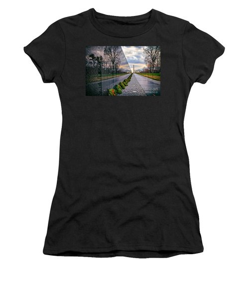 Vietnam War Memorial, Washington, Dc, Usa Women's T-Shirt