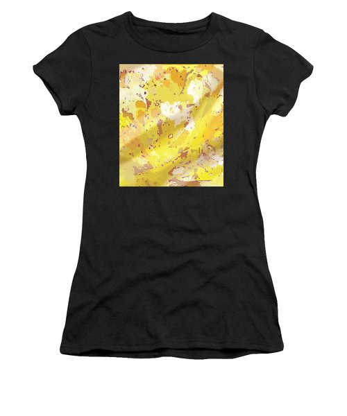 View From Above In Yellow Women's T-Shirt (Athletic Fit)