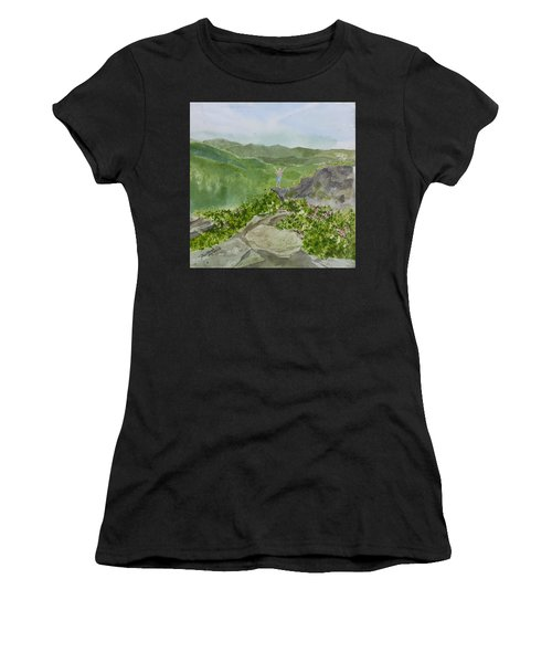 View From Craggy Gardens - A Watercolor Sketch  Women's T-Shirt