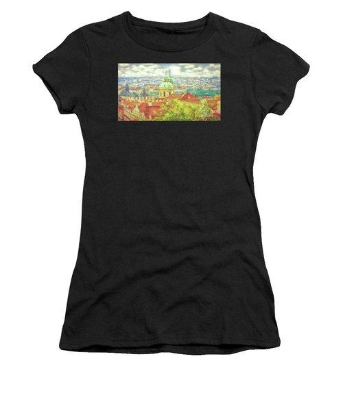 View From The High Ground - Prague  Women's T-Shirt