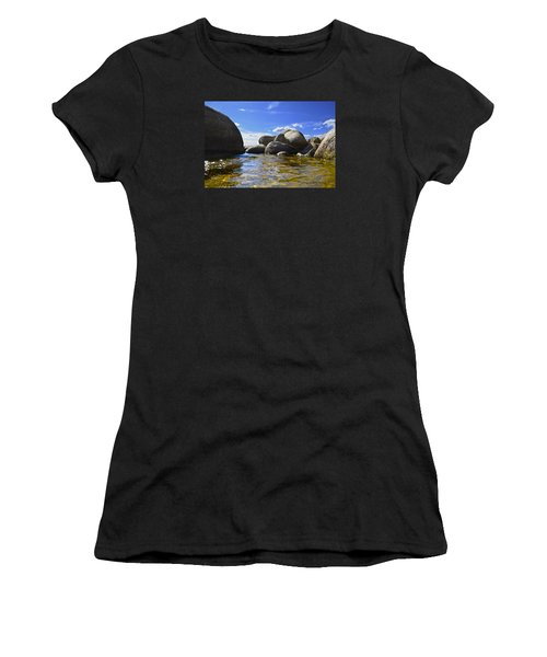 View From The Water Of Lake Tahoe Women's T-Shirt (Athletic Fit)