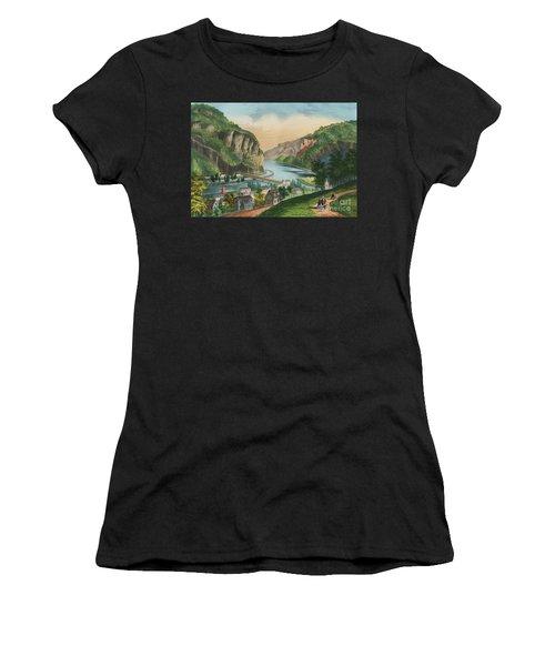 View Of Harpers Ferry, Virginia Women's T-Shirt