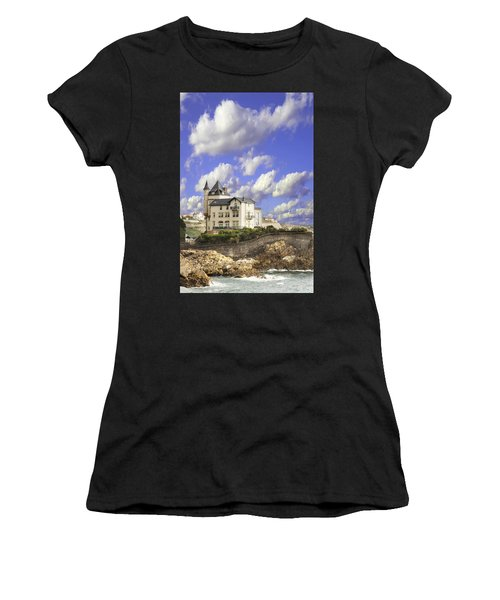 View Of The Beautiful Castle On The Bay Of Biscay Of The Atlantic Ocean Women's T-Shirt (Athletic Fit)