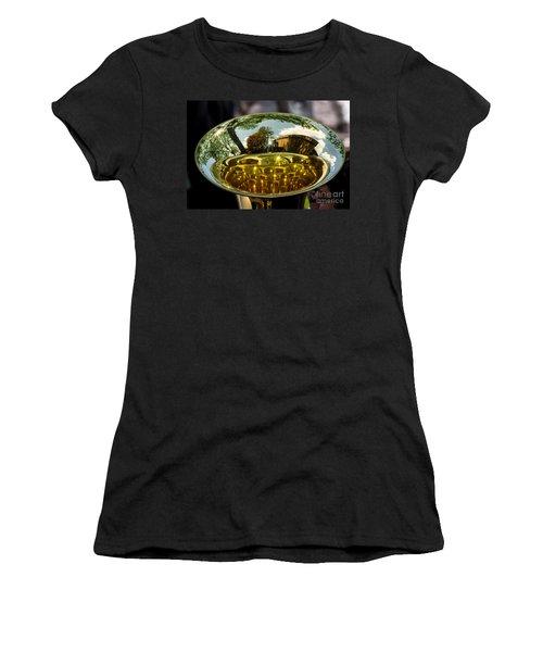 View Through A Sousaphone Women's T-Shirt (Junior Cut) by Kevin Fortier