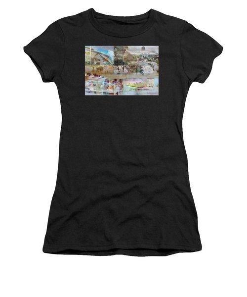 Vikings Stadium Collage 2 Women's T-Shirt (Athletic Fit)