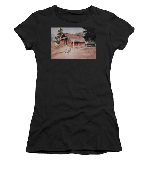 Village Hut Women's T-Shirt (Athletic Fit)