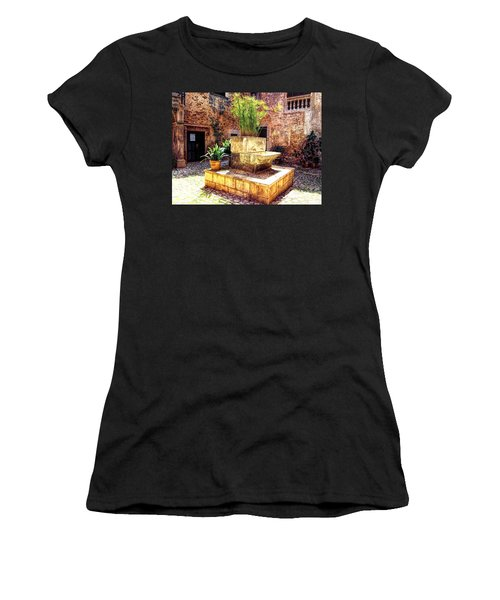 Village Well In Santanyi Women's T-Shirt (Athletic Fit)