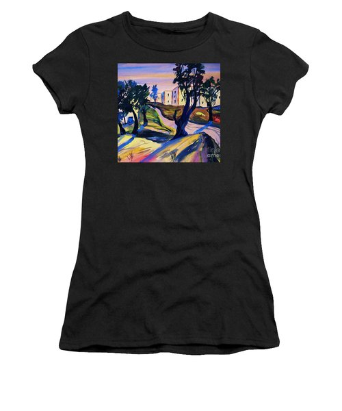 Villefranche Women's T-Shirt (Junior Cut) by Roberto Prusso