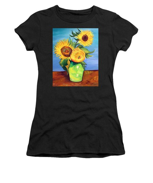 Vincent's Sunflowers Women's T-Shirt (Athletic Fit)