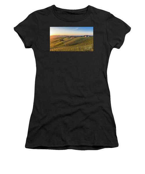 Vineyard At Barbaresco, Italy Women's T-Shirt