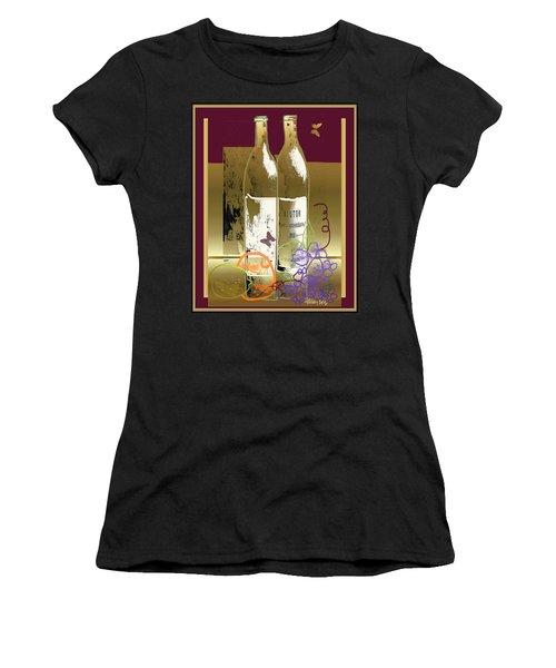 Vin, Fruit, Et Papillons Women's T-Shirt
