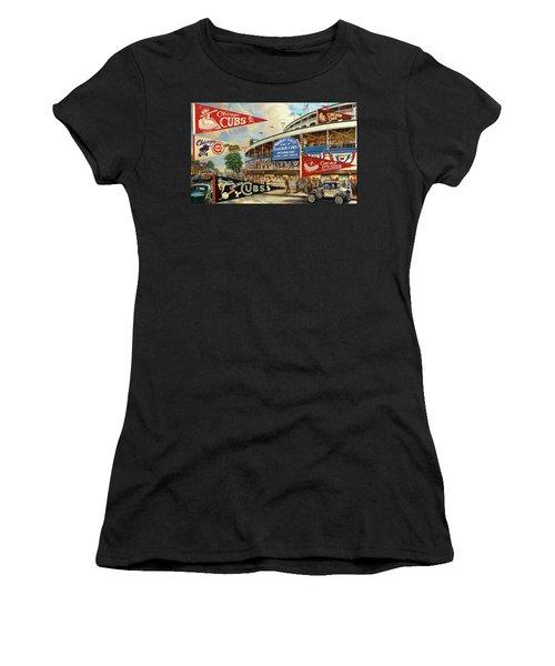 Vintage Chicago Cubs Women's T-Shirt (Athletic Fit)