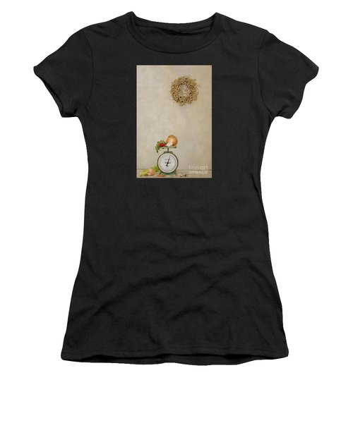 Vintage Household Scale And Vegtables Women's T-Shirt (Athletic Fit)