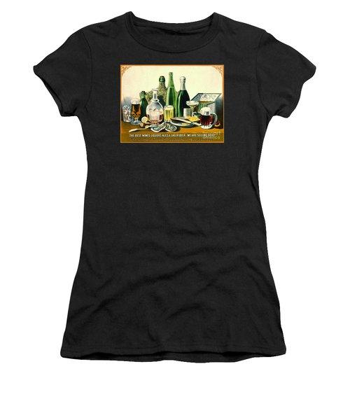 Vintage Liquor Ad 1871 Women's T-Shirt (Junior Cut) by Padre Art