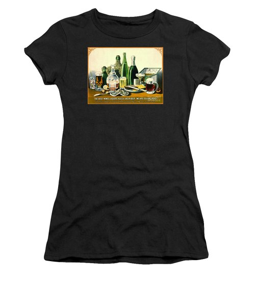 Vintage Liquor Ad 1871 Women's T-Shirt (Athletic Fit)