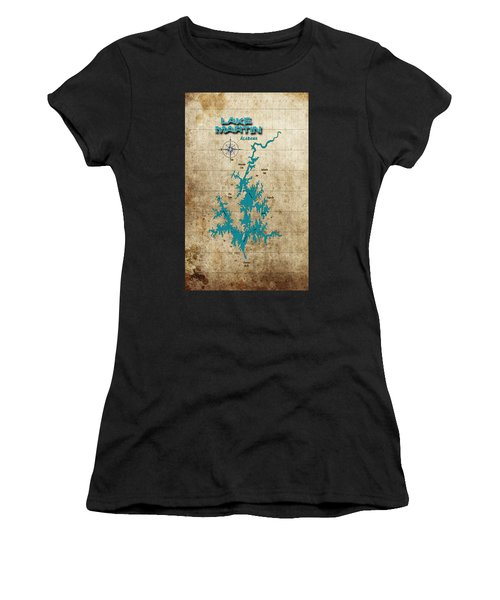 Vintage Map - Lake Martin Al Women's T-Shirt (Athletic Fit)