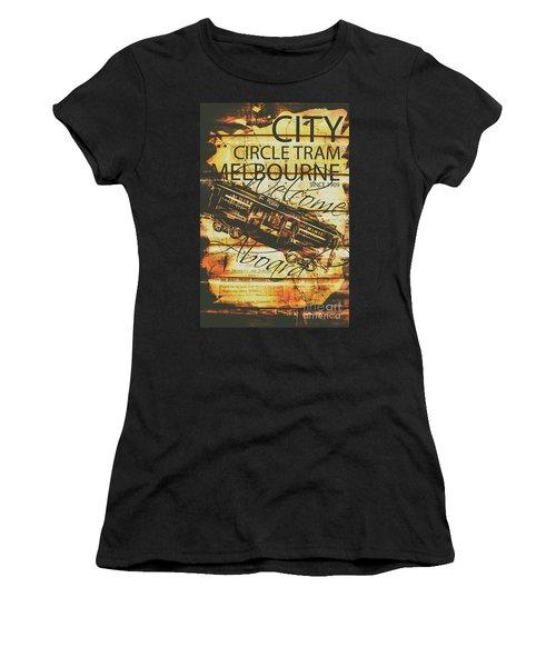 Vintage Melbourne Tram Tin Sign Women's T-Shirt