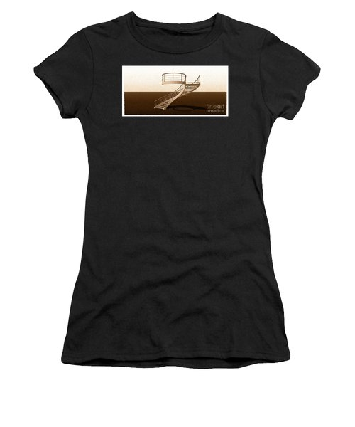 Vintage Stair 48 Escalera Caracol Helicoidal Women's T-Shirt