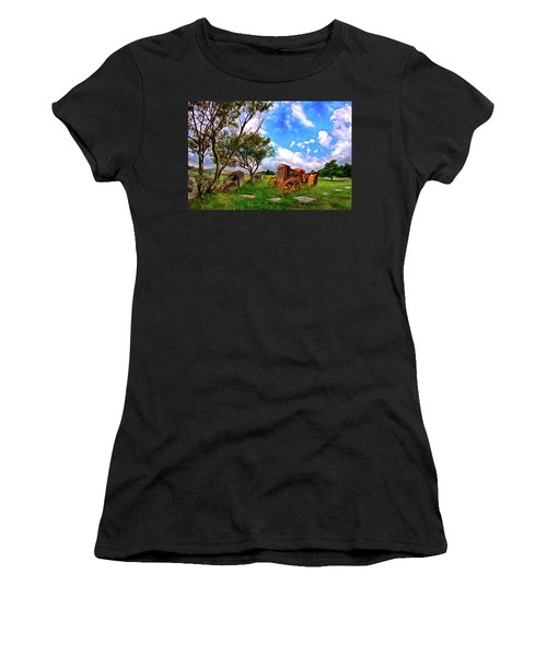 Vintage Tractor In The Blue Ridge Ap Women's T-Shirt
