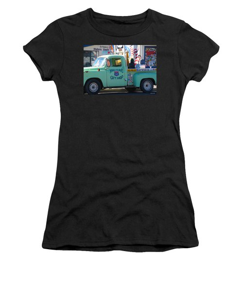 Vintage Truck With Elvis On Historic Route 66 Women's T-Shirt