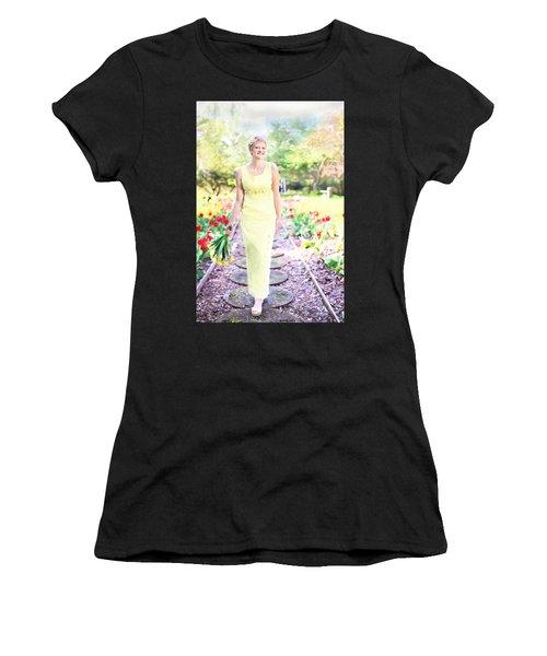 Vintage Val In Tulips Women's T-Shirt