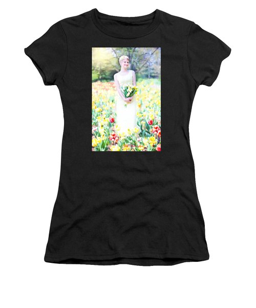 Vintage Val Spring Tulips Women's T-Shirt