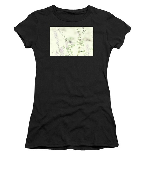 Violet And Green Bloom Women's T-Shirt