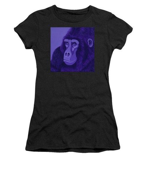 Violet Gorilla Women's T-Shirt (Athletic Fit)