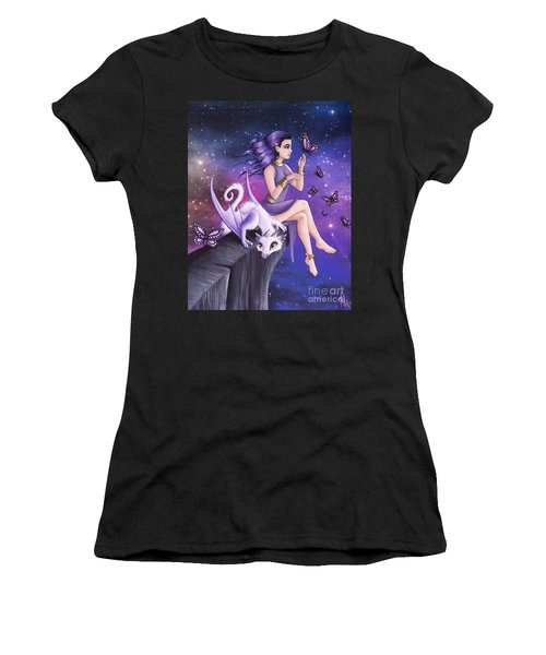 Violet Night Fantasy Women's T-Shirt (Athletic Fit)