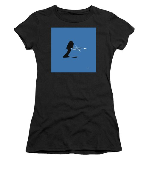 Women's T-Shirt (Junior Cut) featuring the digital art Violin In Blue by Jazz DaBri