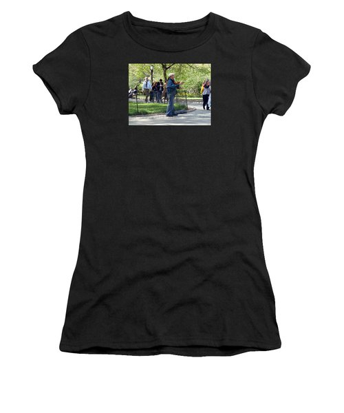 Violinist Women's T-Shirt (Athletic Fit)