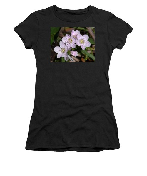 Virginia Or Narrowleaf Spring-beauty Dspf041 Women's T-Shirt (Athletic Fit)