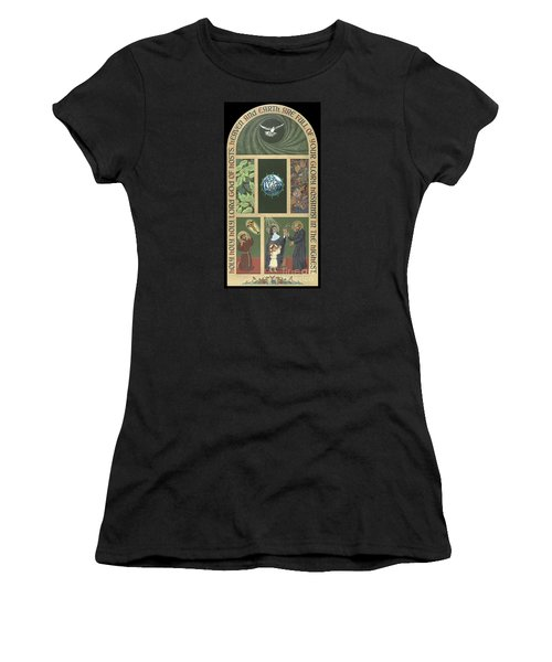 Viriditas - Finding God In All Things Women's T-Shirt (Junior Cut) by William Hart McNichols